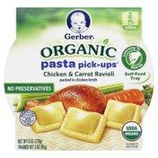 Gerber Organic, Pasta Pick-Ups, Chicken & Carrot Ravioli, Tub