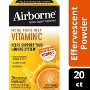 Airborne® Vitamin C 1000mg (per serving) - Zesty Orange Effervescent Powder Packs, Immune Support Supplement