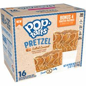Kellogg's Pop-Tarts Pretzel Toaster Pastries, Breakfast Foods, Baked in the USA, Salted Caramel Drizzle