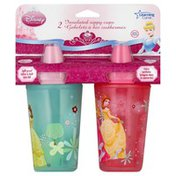 Learning Curve Sippy Cups, Insulated, Disney Princess, 9 oz, 9M+