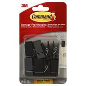 3M Command Clips, Slate Spring, Decorative, Value Pack