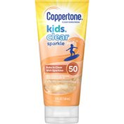 Coppertone Kids Clear Sparkle SPF 50 Sunscreen Lotion