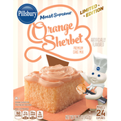 Pillsbury Cake Mix, Premium, Orange Sherbet