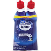 Great Value Toilet Bowl Cleaner, with Bleach, Original Fresh, Value Pack