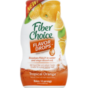 Fiber Choice Fiber, Flavor Drops, Tropical Orange