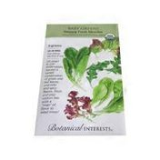 Botanical Interests Organic Snappy Fresh Mesclun Baby Greens Seeds Pack