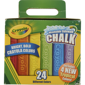 Crayola Chalk, Washable Sidewalk, 24 Different Colors