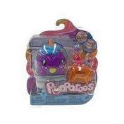 Mattel Pooparoos Pet & Food Purple Unicorn Figure Pack