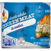 Ahold Chicken Meat, in Water, Chunk White, 2 Pack