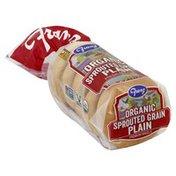 Franz Bagels, Premium, Organic, Sprouted Grain Plain