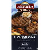 Johnsonville Grillers Steakhouse Onion Brat Patties