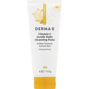DERMA E Cleansing Paste, Vitamin C, Gentle Daily