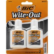 BiC Correction Fluid, Quick Dry, White