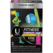 U by Kotex-Super Premium Plus Fitness Tampons, Regular Absorbency, Unscented