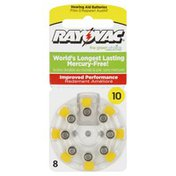 Rayovac Hearing Aid Batteries, Size 10