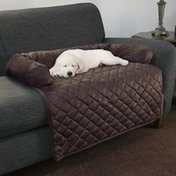 Trademark Global Brown Petmaker Furniture Protector Dog & Cat Cover with Bolster