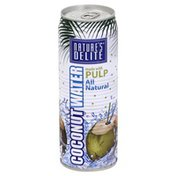 Natures Delite Coconut Water, Made with Pulp