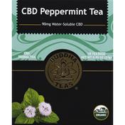 Buddha Teas Herbal Tea, CBD, Organic, Peppermint, Bags