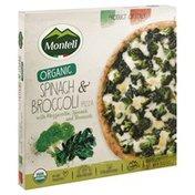 Monteli Pizza, Organic, Spinach & Broccoli