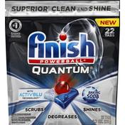 Finish Dishwasher Detergent, Automatic, Quantum, with ActivBlu, Baking Soda, Tabs