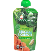 Happy Baby Broccoli & Carrots, Organic, 2 (6+ Months)
