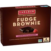 Larabar Hemp Seed Chocolate Raspberry Brownie, 4 Count