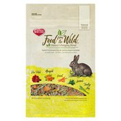 Kaytee Food From The Wild Nature's Rose Petal, Marigold, Carrot, Spinach, Timothy Hay Foraging Blend For All Adult Rabbits