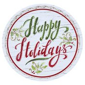 Lindy Bowman Plate, Happy Holidays
