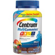 Centrum Men Assorted Natural Fruit Flavors Gummies Centrum MultiGummies Men Multivitamin/Multimineral Gummies