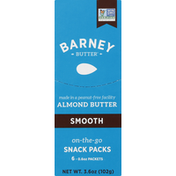 Barney Butter Almond Butter, Smooth, On-the-Go, Snack Packs