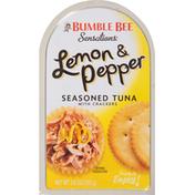 Bumble Bee Seasoned Tuna, with Crackers, Lemon & Pepper