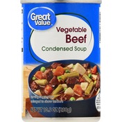 Great Value Condensed Soup, Vegetable Beef