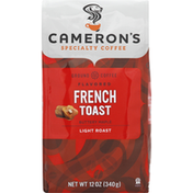 Camerons Coffee, Ground, Light Roast, French Toast