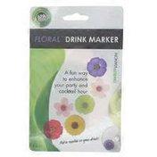 Charles Viancin Floral Drink Markers