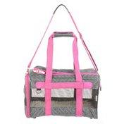 Medium Hbn Gray & Pink Deluxe Carrier