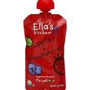 Ella's Kitchen Puree, Super Smooth, Apples + Strawberries, 2 (from 6 Months)