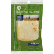 Kroger Cheese Slices, Orange Rind Muenster
