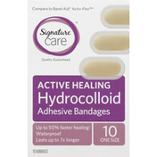 Signature Care Adhesive Bandages, Hydrocolloid, One Size
