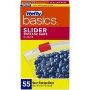 Hefty Basics Quart Slider Storage Bags