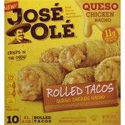 José Olé Rolled Tacos, Queso Chicken Nacho