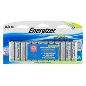 Energizer Eco Advanced AA Alkaline Batteries - 12 CT