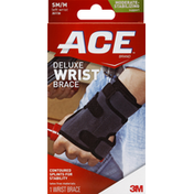 Ace Bakery Wrist Brace, Deluxe, SM M, Left Wrist, Moderate Stabilizing Support