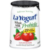 La Yogurt Probiotic Strawberry Blended Whole Milk Yogurt