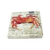 Paperproducts Design Crab Shack Paper Beverage Cocktail Napkin