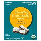 Simply Balanced Coconut Oil, Organic, Refined