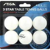 Stiga Table Tennis Balls, 3 Star