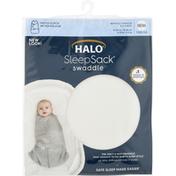 Halo Swaddle, Newborn, Cream Fleece, Birth to 3 Months