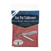 Special Occasion Stay Put Tablecover Plastic Real Red - 29in X 72in