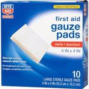 Rite Aid Sterile Pads, 10 pads