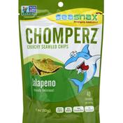 SeaSnax Seaweed Chips, Crunchy, Jalapeno Flavor